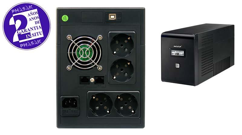 UPS Phasak 1500VA LCD USB com proteção para RJ