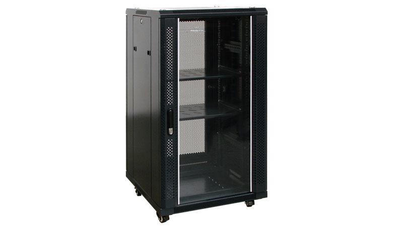 Armario rack 19 600x600 con puerta de cristal - Armario con puertas de cristal ...